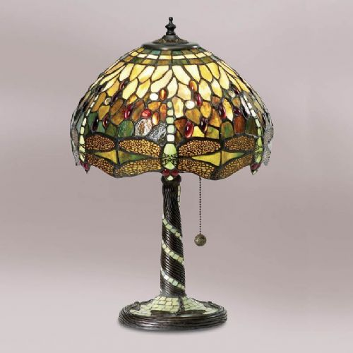 Green Dragonfly Medium Table Lamp TP1T (Tiffany style)